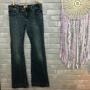 free people // vintage wash bootcut flare jeans 30